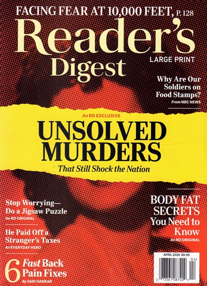 Reader's Digest - Large Print Edition Cover - 4/1/2020