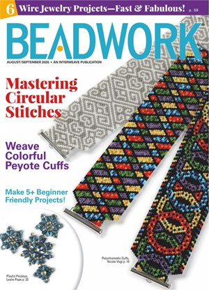 Beadwork Magazine | 8/2020 Cover