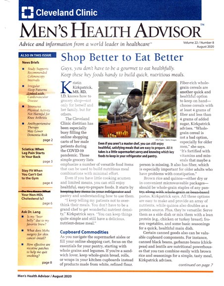 Men's Health Advisor Cover - 8/1/2020