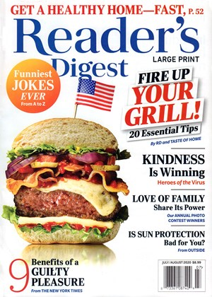 Reader's Digest Large Print - Only $3.00 / issue