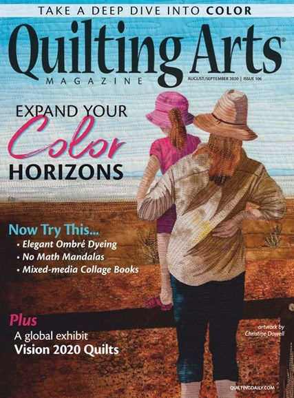 Quilting Arts Cover - 8/1/2020