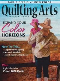 Quilting Arts Magazine   8/2020 Cover