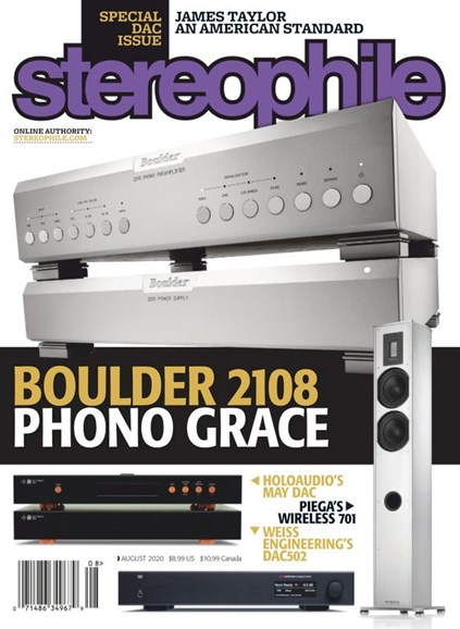 Stereophile Cover - 8/1/2020