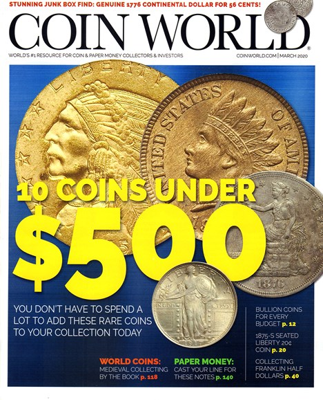 Coin World Monthly Cover - 3/1/2020
