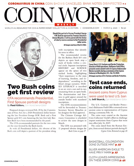 Coin World Weekly Cover - 3/9/2020