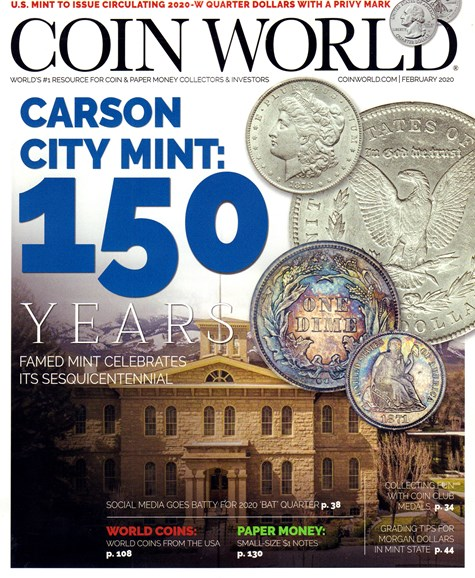 Coin World Weekly Cover - 2/1/2020