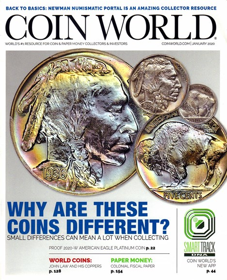 Coin World Monthly Cover - 1/1/2020