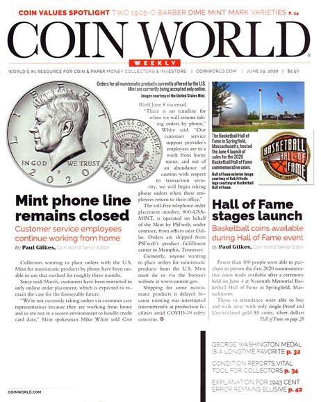 Coin World Weekly Cover - 6/29/2020