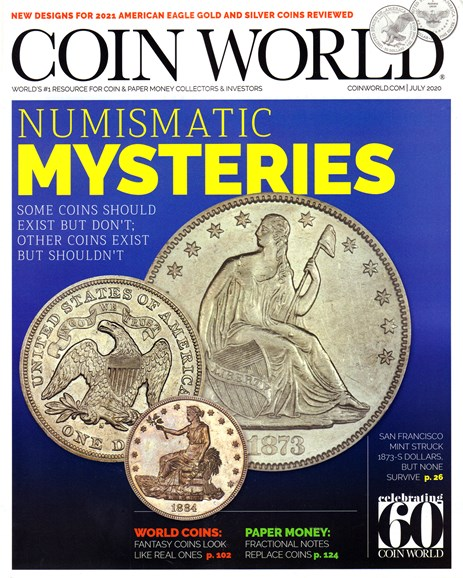 Coin World Monthly Cover - 7/1/2020