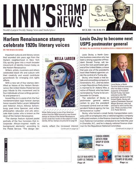 Linn's Stamp News Weekly Cover - 5/25/2020