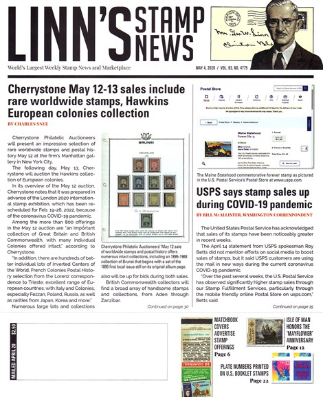 Linn's Stamp News Weekly Cover - 5/4/2020