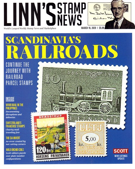 Linn's Stamp News Weekly Cover - 3/16/2020