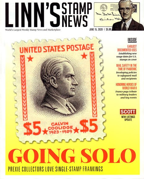 Linn's Stamp News Monthly Cover - 6/15/2020