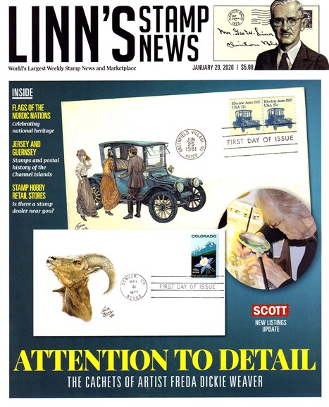 Linn's Stamp News Monthly Cover - 1/20/2020