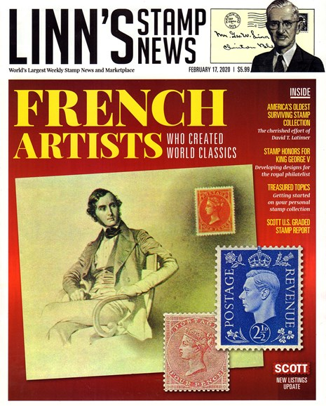 Linn's Stamp News Monthly Cover - 2/17/2020