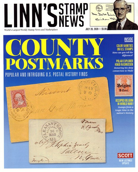 Linn's Stamp News Monthly Cover - 7/20/2020