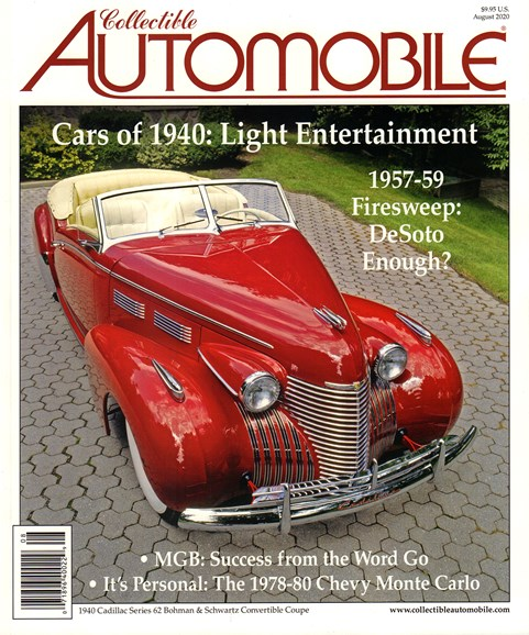Collectible Automobile Cover - 8/1/2020