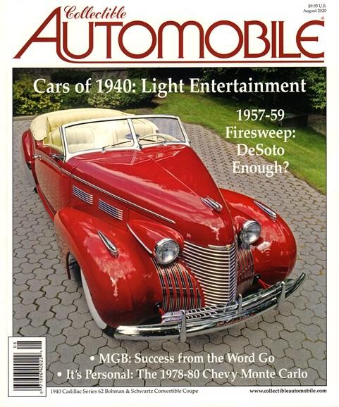 Collectible Automobile Cover - 8/1/2020