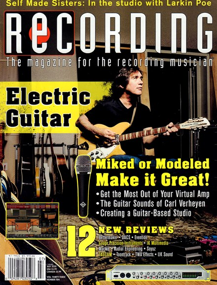 Recording Magazine Cover - 7/1/2020