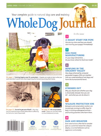 Whole Dog Journal Cover - 4/1/2020