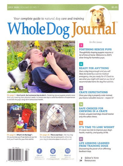 Whole Dog Journal Cover - 7/1/2020