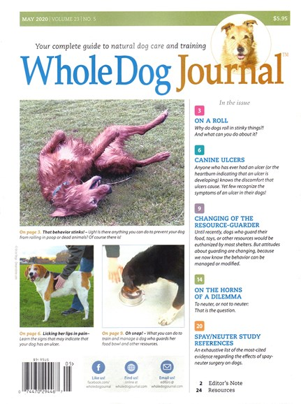 Whole Dog Journal Cover - 5/1/2020
