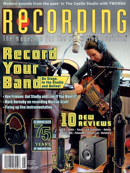 Recording Magazine Cover - 8/1/2020