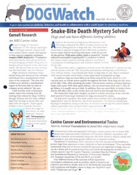 Dogwatch Newsletter | 8/2020 Cover