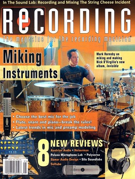 Recording Magazine Cover - 5/1/2020