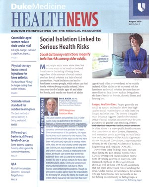Health News Newsletter | 8/2020 Cover