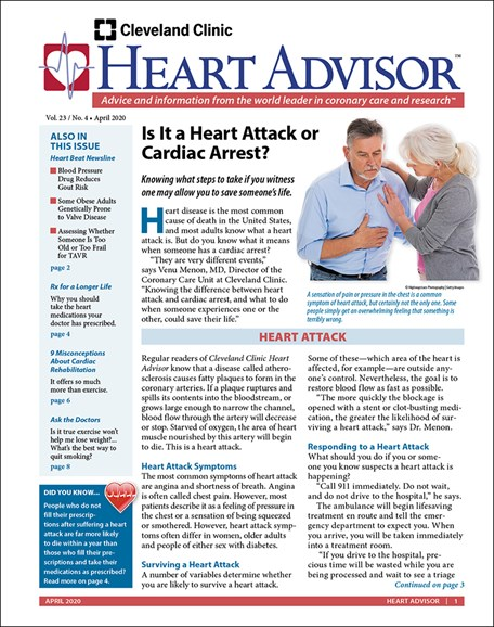 Heart Advisor Cover - 4/1/2020