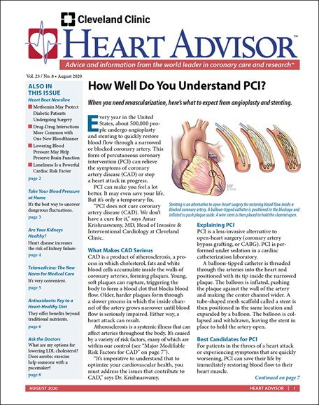 Heart Advisor Cover - 8/1/2020