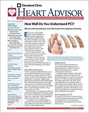 Heart Advisor Newsletter | 8/2020 Cover