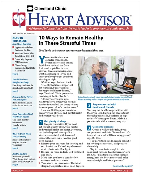 Heart Advisor Cover - 6/1/2020