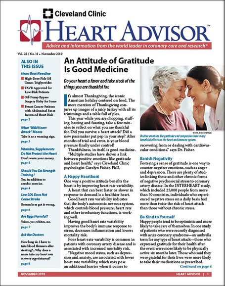 Heart Advisor Cover - 11/1/2019