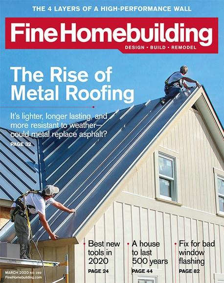 Fine Homebuilding Cover - 3/1/2020