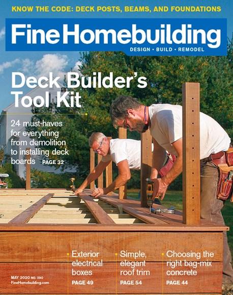 Fine Homebuilding Cover - 5/1/2020