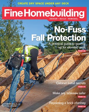 Fine Homebuilding Magazine | 9/2020 Cover