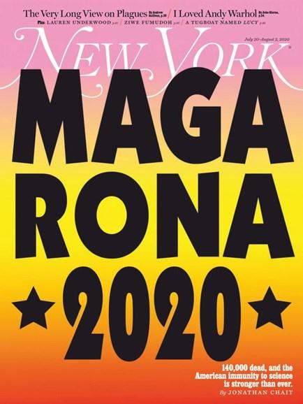 New York Magazine Cover - 7/20/2020
