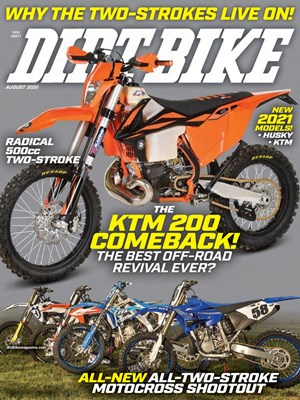 Dirt Bike Magazine | 8/2020 Cover