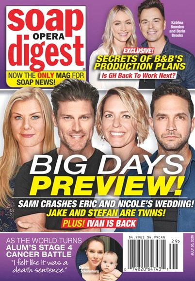 Soap Opera Digest Cover - 7/20/2020