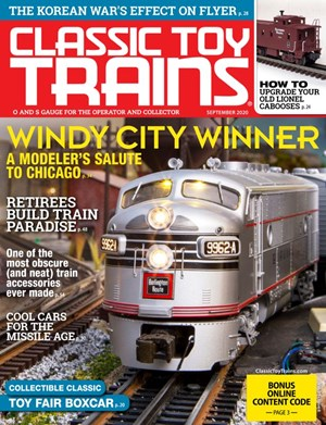Classic Toy Trains Magazine | 9/2020 Cover