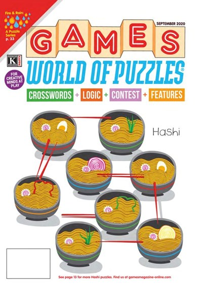Games World of Puzzles Cover - 9/1/2020