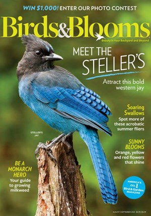 Birds & Blooms Magazine | 8/2020 Cover