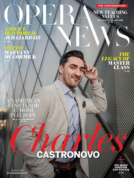 Opera News Cover - 8/1/2020