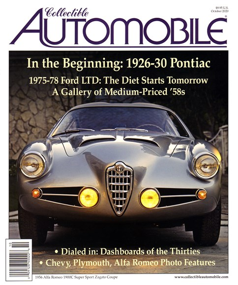 Collectible Automobile Cover - 10/1/2020