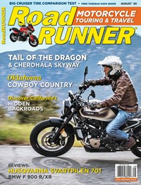Road RUNNER Motorcycle and Touring Magazine   8/2020 Cover