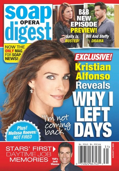 Soap Opera Digest Cover - 8/3/2020