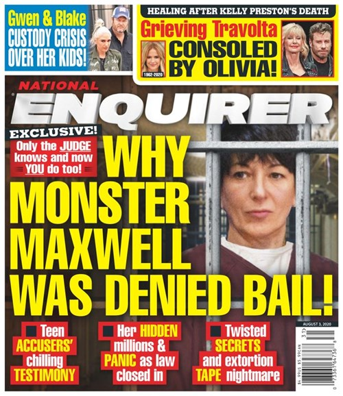 National Enquirer Cover - 8/3/2020
