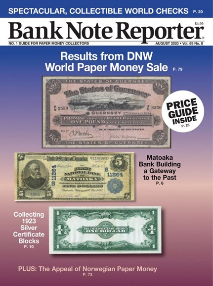 Bank Note Reporter Cover - 8/1/2020